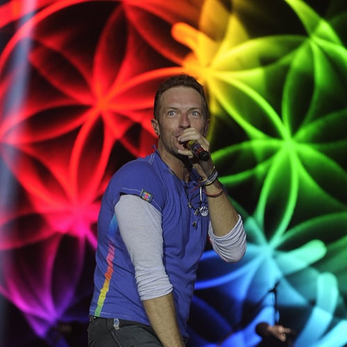 Chris Martin Sings With His Kids at Glastonbury Festival