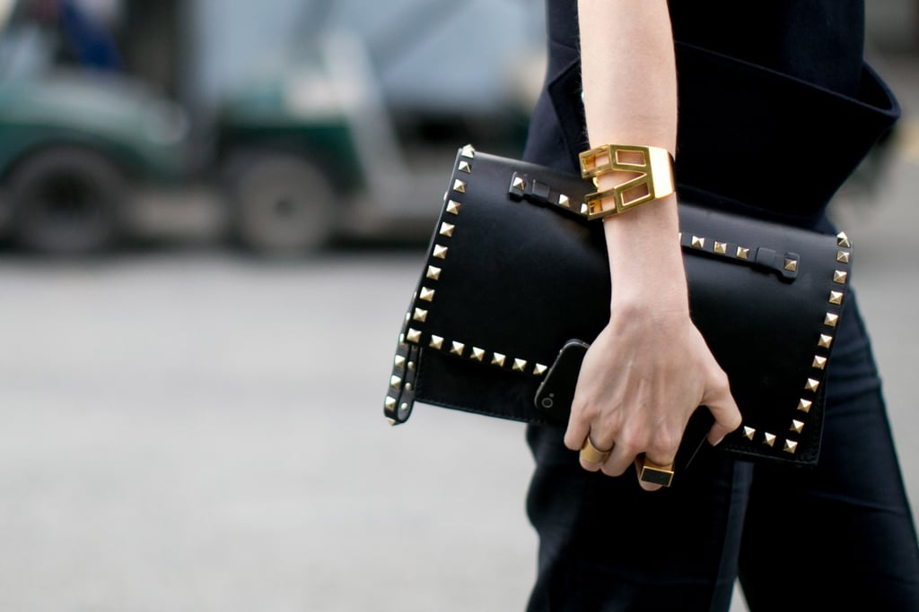 Count it — another Valentino clutch in hand.