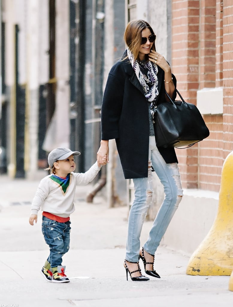 Miranda Kerr is undoubtedly one of the most stylish celebrity moms, so it's no surprise that her almost 2-year-old son Flynn Bloom is following in her sartorial footsteps. They are always so smiley and well-dressed, and this photo of the pair together in November looks like it could have easily come from a catalog or editorial. — Britt Stephens, assistant editor