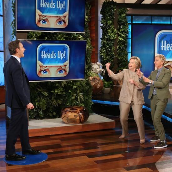 Tony Goldwyn and Hillary Clinton Play Heads Up on Ellen