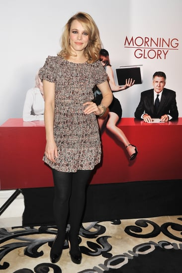 Pictures of Rachel McAdams and Harrison Ford at the French Photo Call For Morning Glory