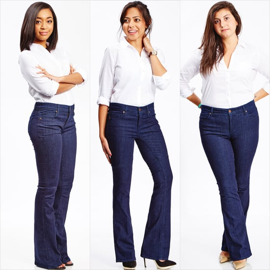 5 Different Women Wore the Same Flared Jeans — and This Is What Happened