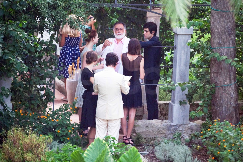 Francis Ford Coppola toasted the couple.