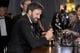 Ben Affleck smiled at his Oscar at the Governors Ball.