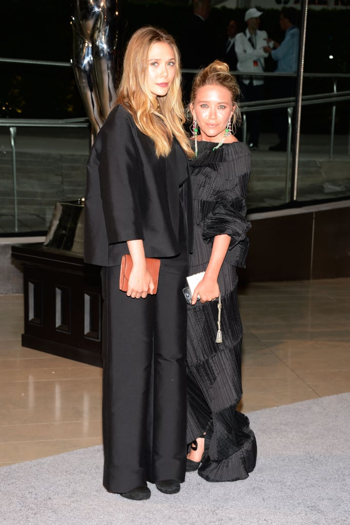 Elizabeth and Mary-Kate Olsen walked the CFDA Fashion Awards red carpet together.