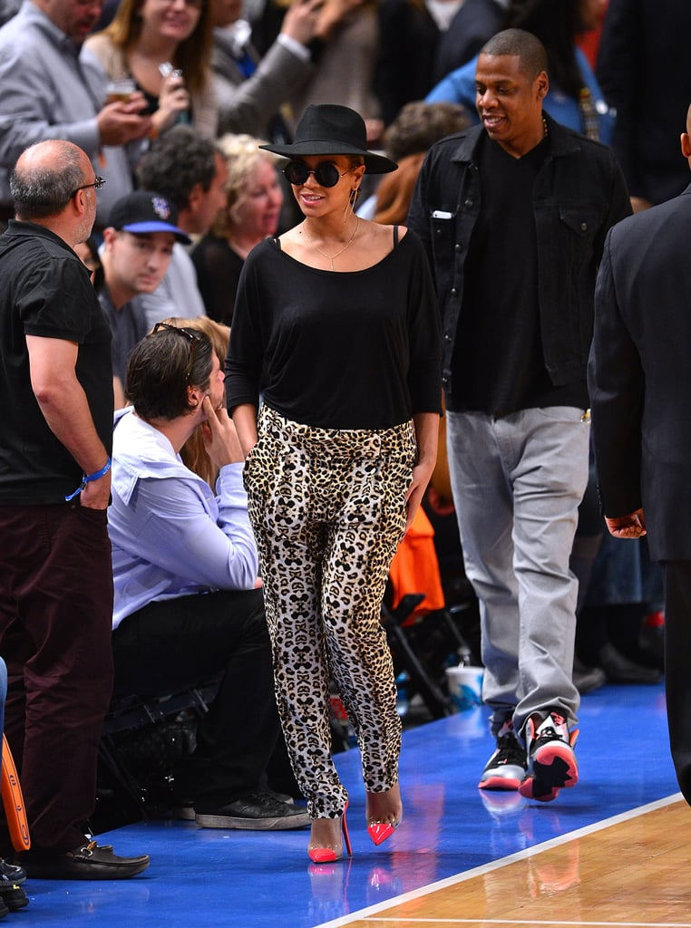 Jay-Z and Beyoncé Knowles arrived to watch basketball at MSG.