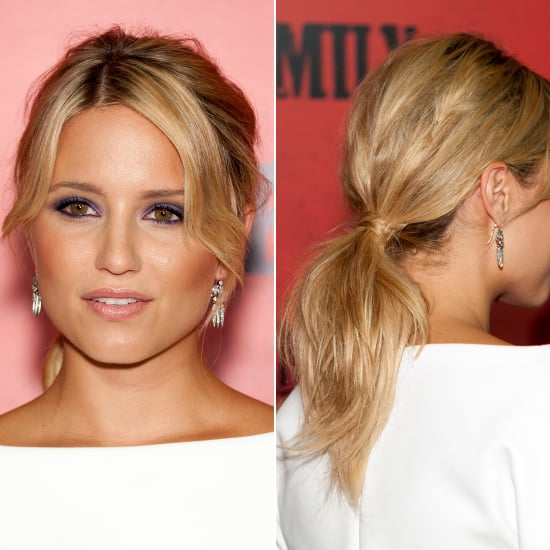 Dianna Agron Ponytail and Purple Eyeshadow | Get The Look
