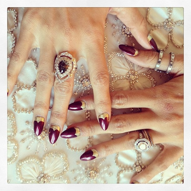 Nicole Richie previewed her dress underneath her nails and rings. Source: Instagram user nicolerichie
