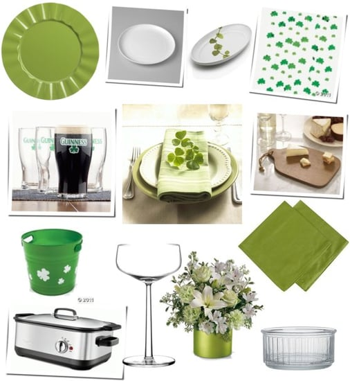 St Patrick's Day Decorations and Table Setting