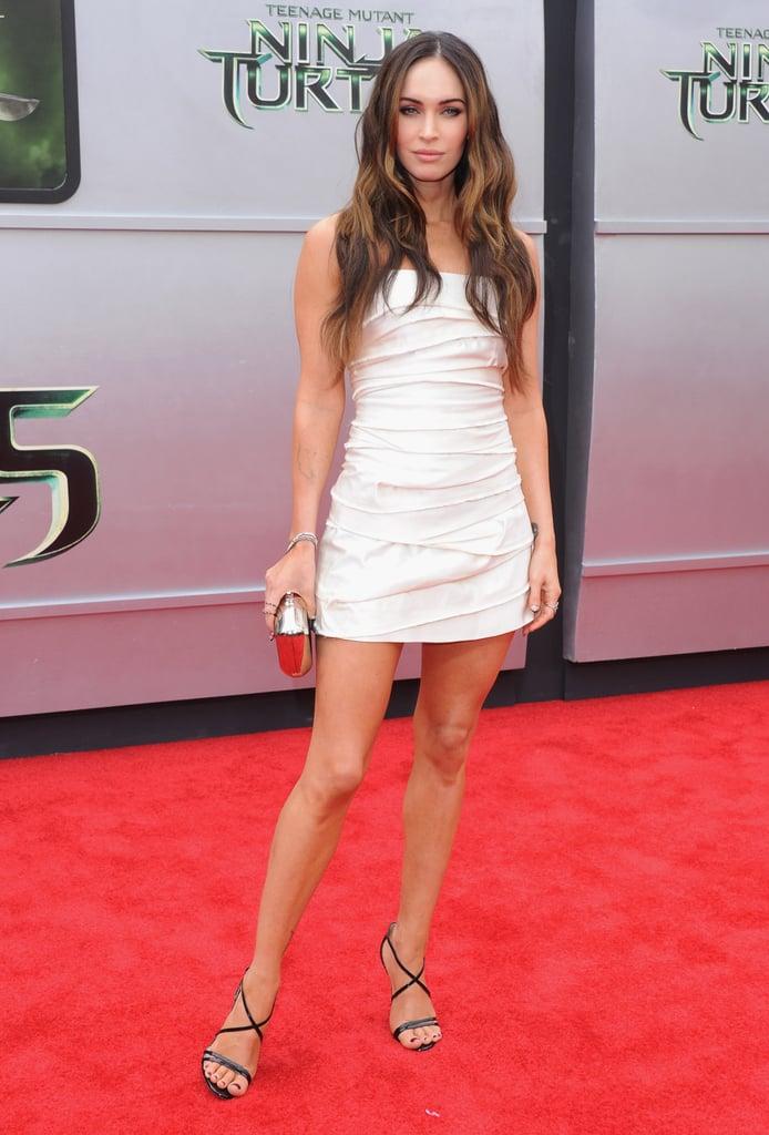 Megan Fox stunned on the red carpet at the Teenage Mutant Ninja Turtles premiere in LA on Sunday.