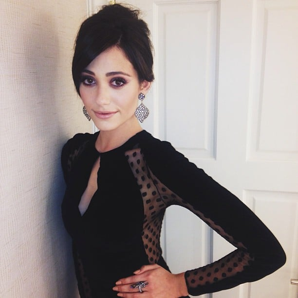 Emmy Rossum snapped a sultry self-portrait of her Zuhair Murad gown before heading to the Billboard Music Awards. Source: Instagram user emmyrossum
