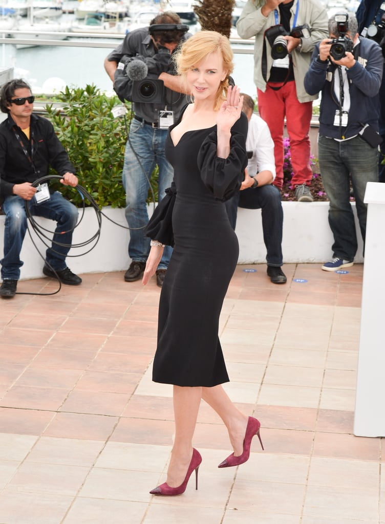 Nicole Kidman waved to photographers during a photocall for the jury of the Cannes Film Festival.