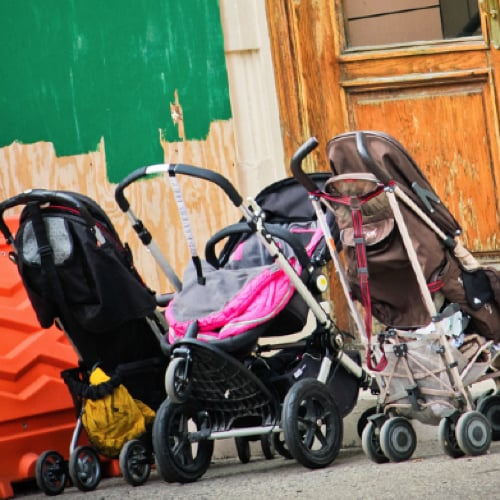 """Would You Leave Your Baby in a """"Parked"""" Stroller?"""