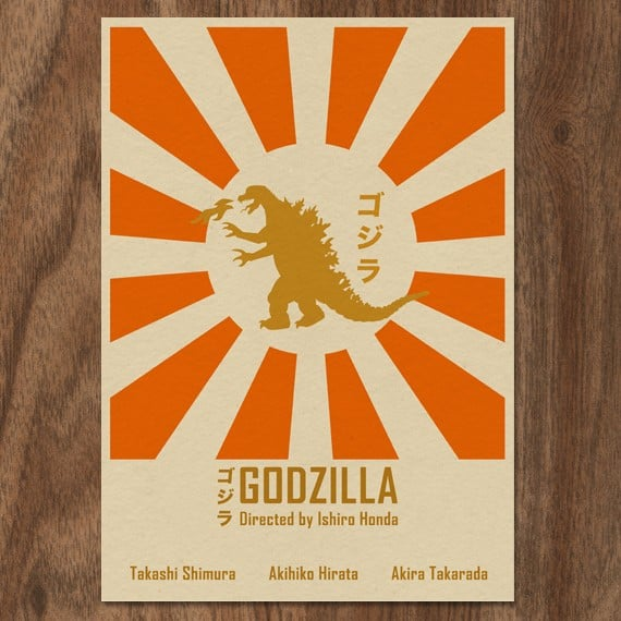 Etsy user MonsterGallery created this print ($19) inspired by the original Godzilla directed by Ishiro Honda.