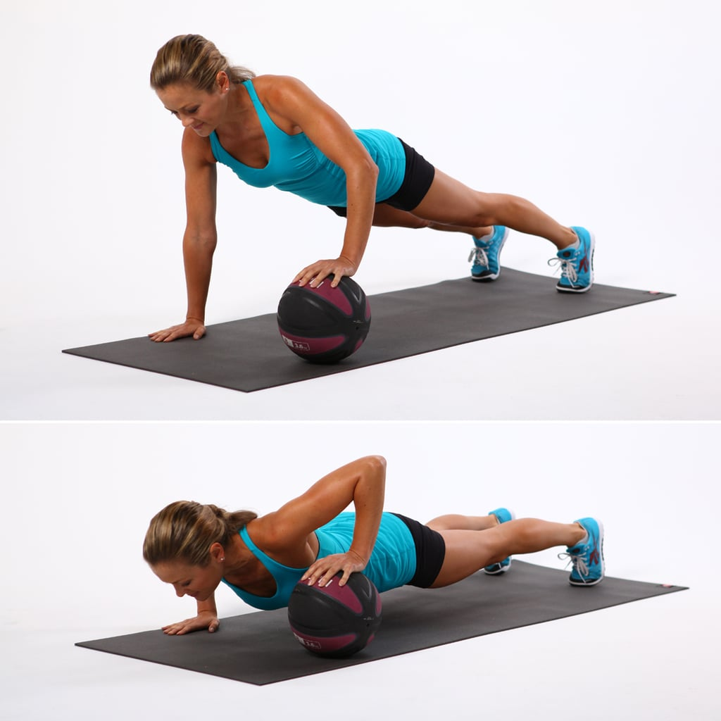 One Arm Med-Ball Push-Up