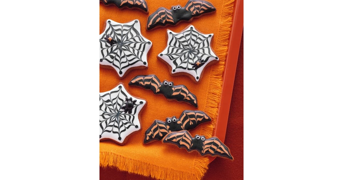 Bat and Cobweb Cookies | 37 Scarily Cute Halloween Sweets | POPSUGAR ...