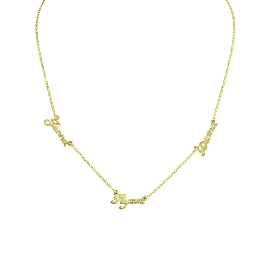 Initial Reaction Multiname Necklace