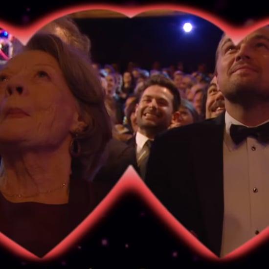 Leonardo DiCaprio Kisses Maggie Smith at BAFTA Awards 2016