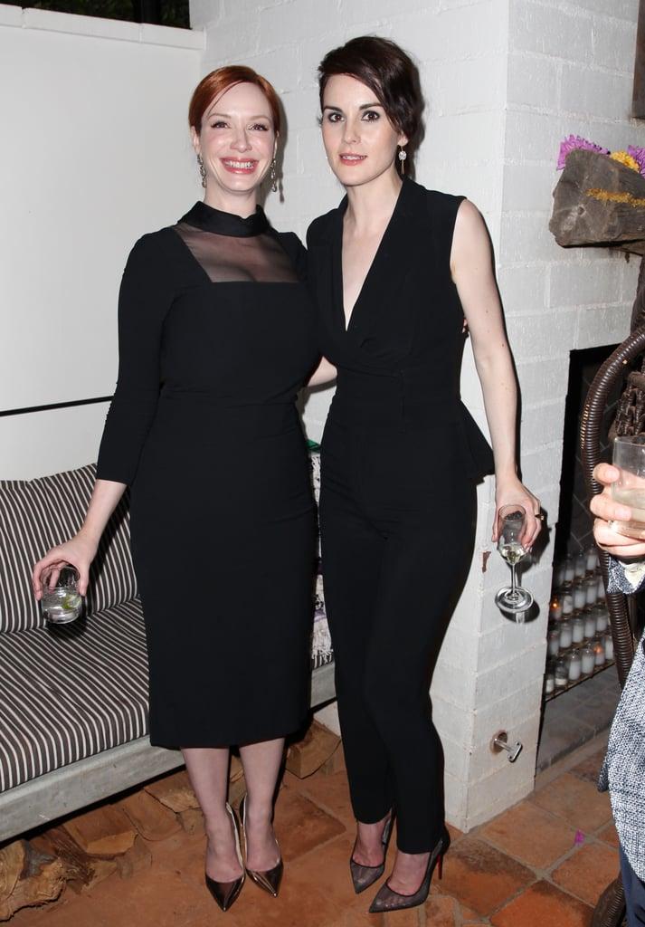 Michelle met up with Christina Hendricks on Saturday.