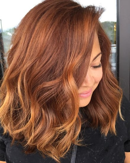 Pumpkin Spice Hair Colour Trend