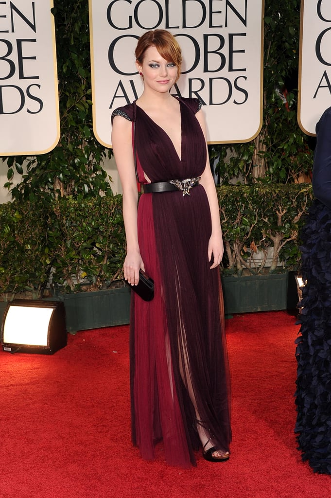 Emma Stone was one of the best dressed at the 2012 Globes.