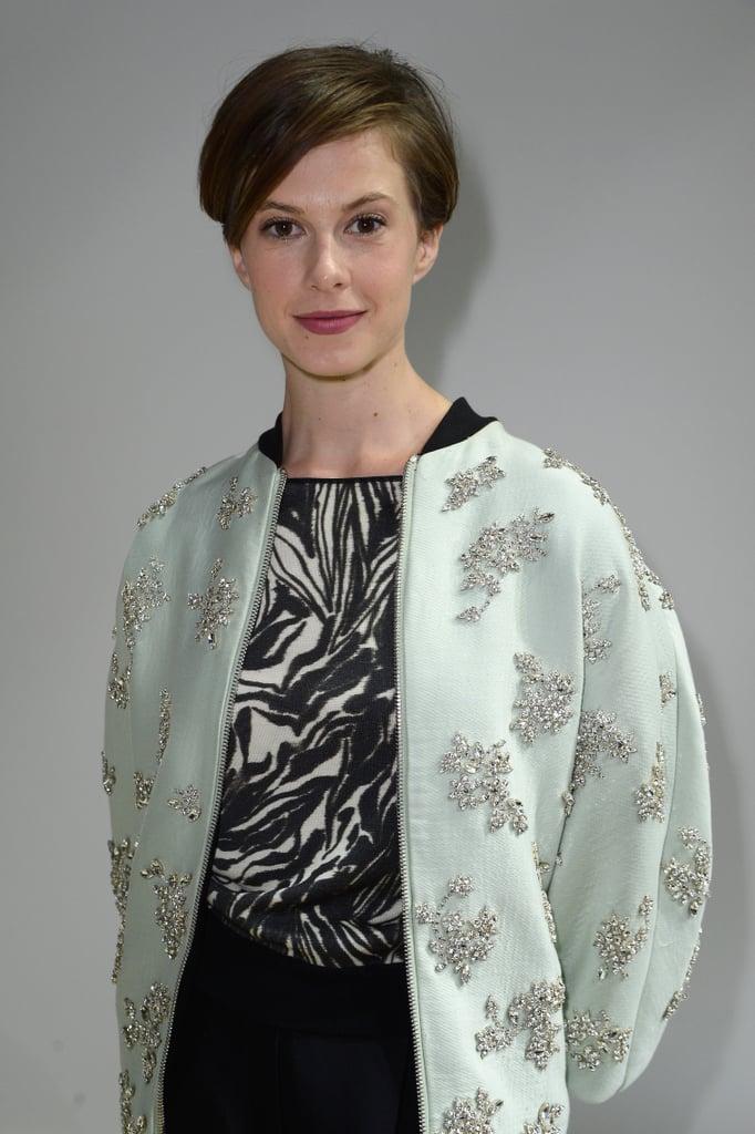 At Giambattista Valli, Elettra Wiedemann topped her design with a pastel layer.