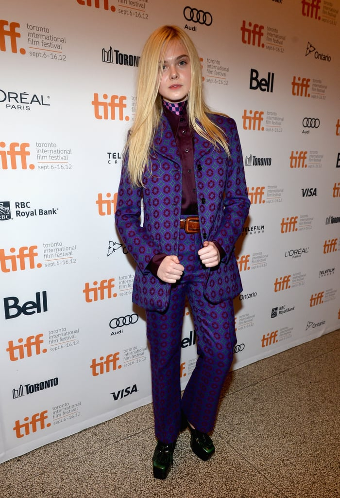 As if she had just stepped off the Autumn/Winter 2012 runway, Elle Fanning wore head-to-toe Miu Miu, which gave her a distinctly retro vibe.