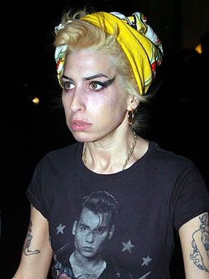 Amy Winehouse's bleached hair