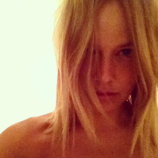 Lara Bingle bared all when she posted this pretty makeup-free shot.