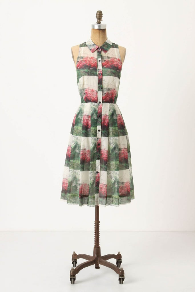 The sweetest shirtdress in a pretty country-inspired print.  Sarah Ball Crepe Myrtle Shirtdress ($130, originally $248)