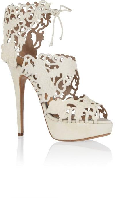 Charlotte Olympia Belinda Cutout Suede Sandals