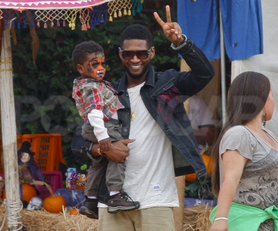 Slide Picture of Usher and Naviyd at Pumpkin Patch