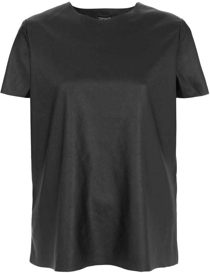 The leather-like finish on this Topshop tee ($90) provides structure and a cooler slant on your typical t-shirt.