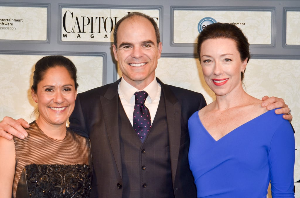 House of Cards actors Sakina Jaffrey, Michael Kelly, and Molly Parker were all smiles at Capitol File's star-studded party on Friday.