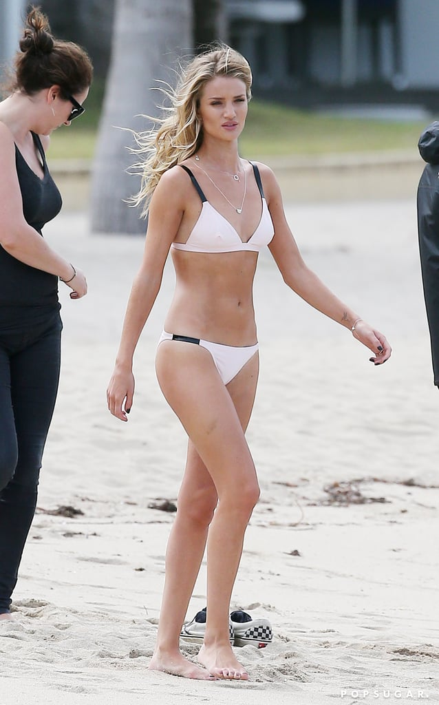 In July, Rosie Huntington-Whiteley put her model bikini body on display in Australia.