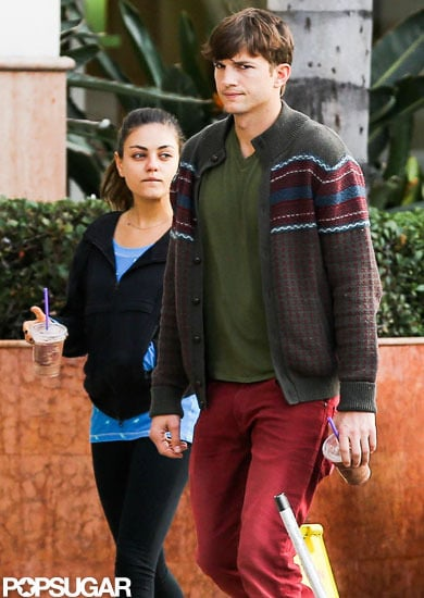 Mila Kunis and Ashton Kutcher went on a coffee run in LA together.