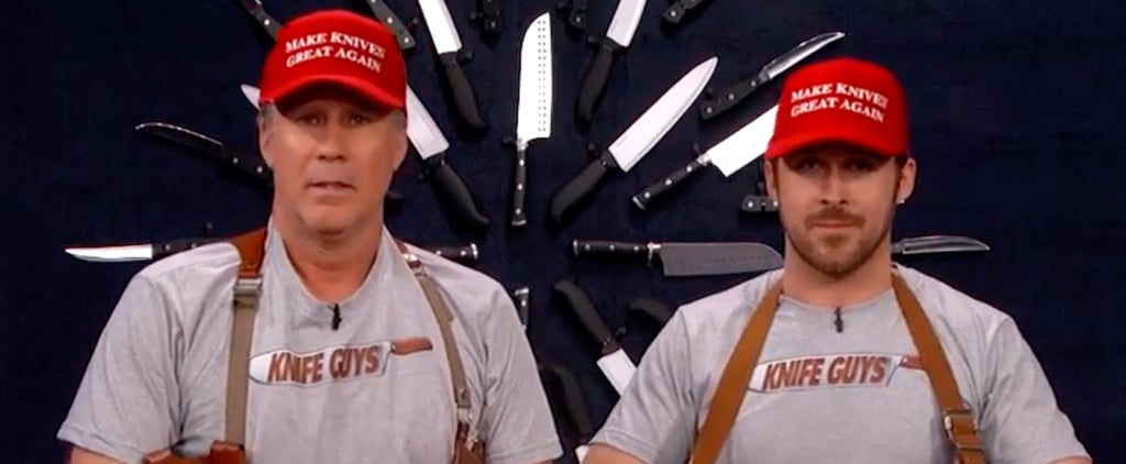 "Ryan Gosling and Will Ferrell Make Their Hilarious Return as the ""Knife Guys"" on Jimmy Kimmel"
