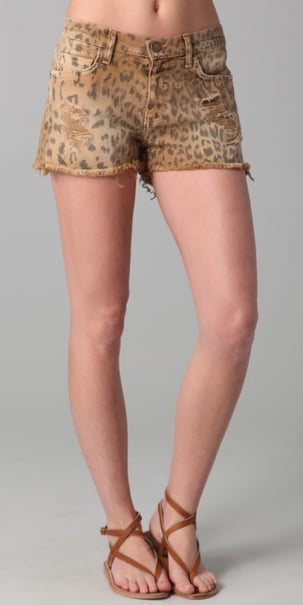 Faded and exotic printed cutoffs, these in particular are a mainstay of any music festivalgoer's wardrobe. Current/Elliott Boyfriend Leopard Print Shorts ($125, originally $178)