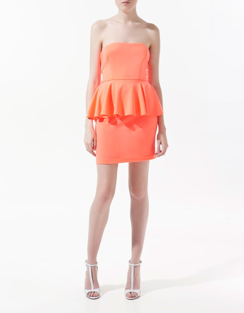 This peach-hued peplum dress is definitely trend-driven, but is simple enough to be easily accessorized, and will come in handy to wear again to cocktail parties and late-Summer garden celebrations.  Zara Peplum Dress ($50)
