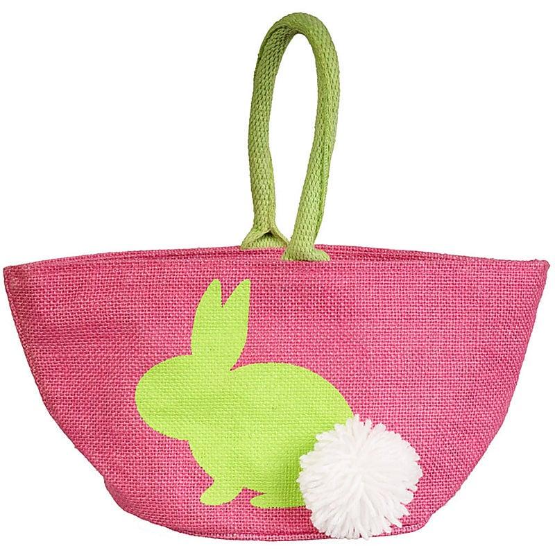 Pink Jute Easter Basket