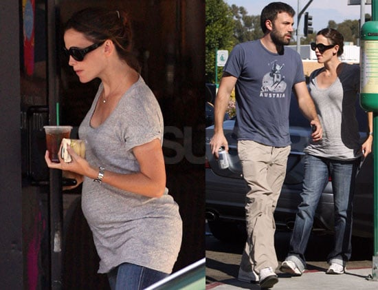 Photos of Very Pregnant Jennifer Garner at Starbucks