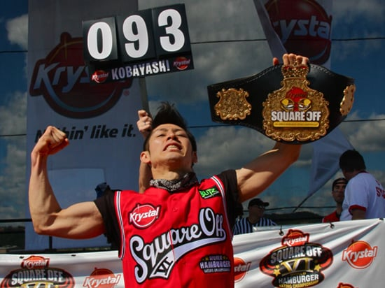 Takeru Kobayashi Wins 2009 Krystal Square Off World Hamburger Eating Championship