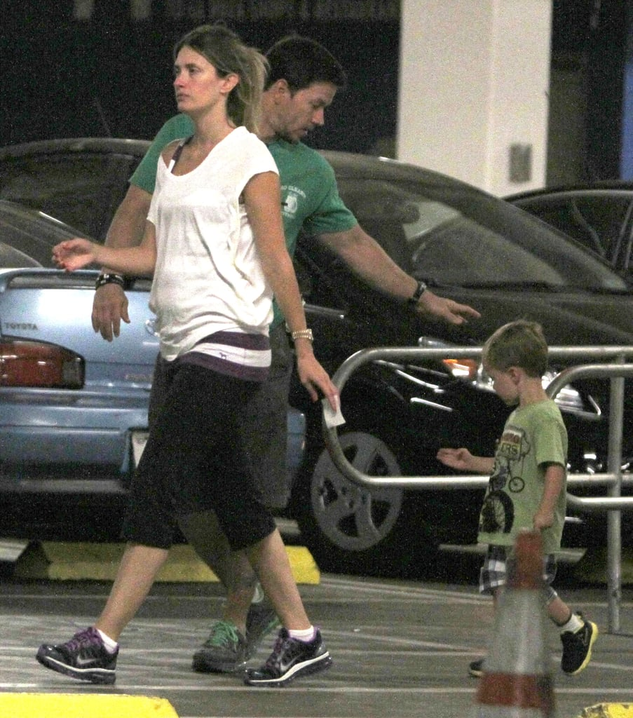 Mark Wahlberg and Rhea Durham spent the afternoon out with their son Brendan.