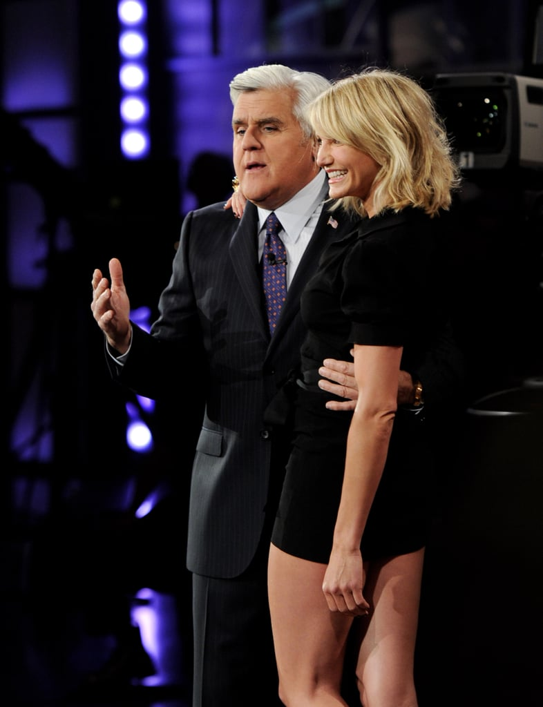 Cameron Diaz posed with Jay Leno.