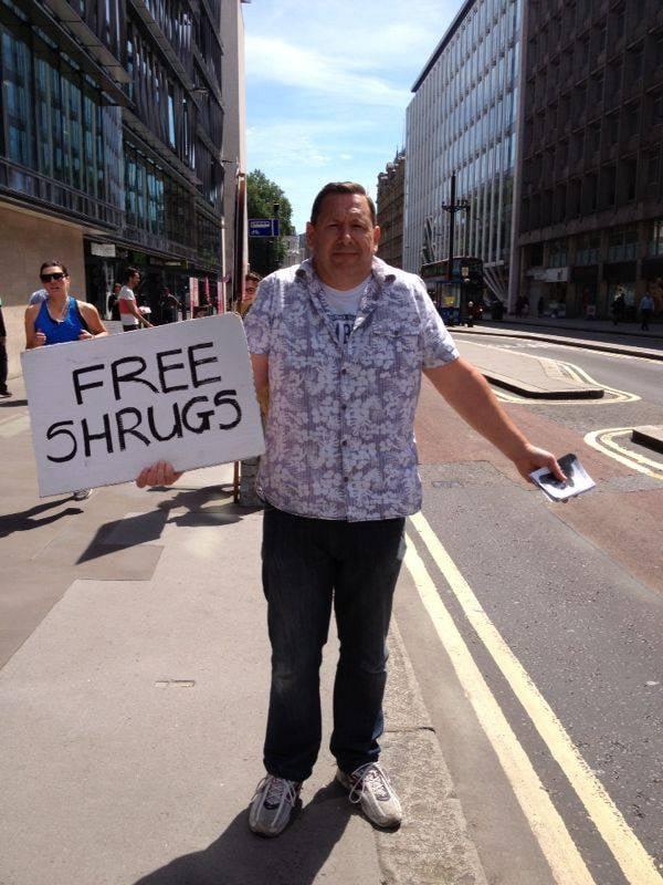 """Caught this guy walking around in London earlier."" Source: Reddit user LethalJizzle via Imgur"