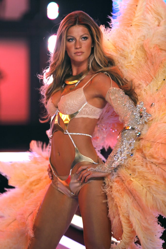 And she's used to flaunting it all on the runway after earning her wings at Victoria's Secret.