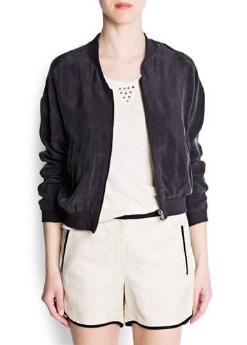 Cupro bomber jacket