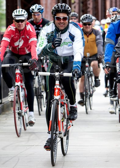 Pictures of Patrick Dempsey Riding His Bike in the Dempsey Challenge For Charity