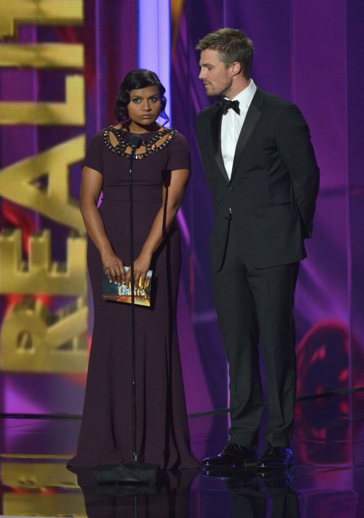 """Mindy Kaling presented with Arrow's Stephen Amell — and called him """"Arrow."""""""