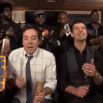 """""""Blurred Lines"""" by Jimmy Fallon and the Roots"""
